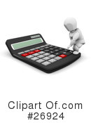 Calculator Clipart #26924 by KJ Pargeter