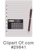 Calculator Clipart #29841 by Melisende Vector