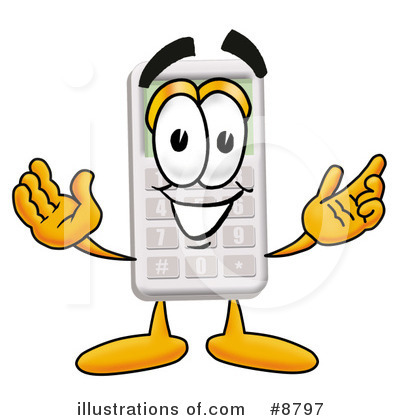Royalty-Free (RF) Calculator Clipart Illustration by Toons4Biz - Stock Sample #8797