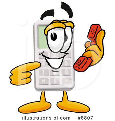 Calculator Clipart #8807 by Toons4Biz