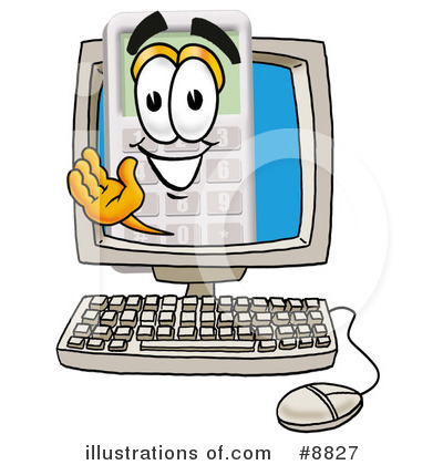 Calculator Clipart #8827 by Toons4Biz