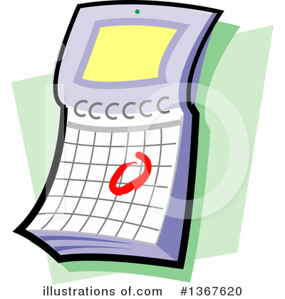 Royalty-Free (RF) Calendar Clipart Illustration by Clip Art Mascots - Stock Sample #1367620