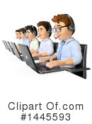 Royalty-Free (RF) Call Center Clipart Illustration #1445593