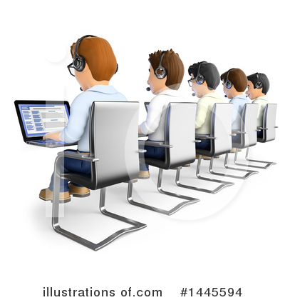 Royalty-Free (RF) Call Center Clipart Illustration by Texelart - Stock Sample #1445594