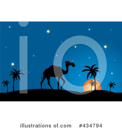Royalty-Free (RF) Camel Clipart Illustration by Pams Clipart - Stock Sample #434794