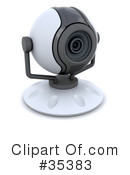 Royalty-Free (RF) Camera Clipart Illustration #35383