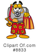 Royalty-Free (RF) camera Clipart Illustration #8833