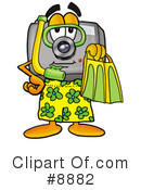 Royalty-Free (RF) camera Clipart Illustration #8882