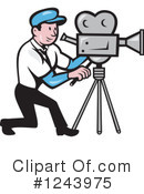 Camera Man Clipart #1243975 by patrimonio