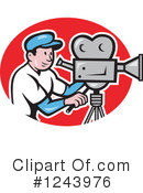 Camera Man Clipart #1243976 by patrimonio