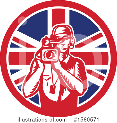 Royalty-Free (RF) Camera Man Clipart Illustration by patrimonio - Stock Sample #1560571