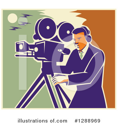 Video Camera Clipart #1288969 by patrimonio