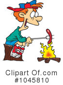 Royalty-Free (RF) Campfire Clipart Illustration #1045810