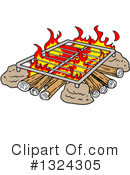 Campfire Clipart #1324305 by LaffToon