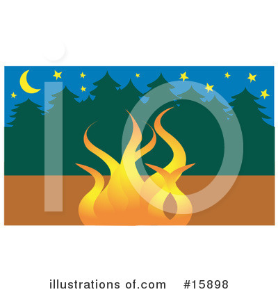 Camp Fire Clipart #15898 by Andy Nortnik