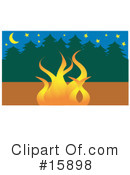 Royalty-Free (RF) campfire Clipart Illustration #15898