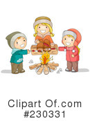 Royalty-Free (RF) campfire Clipart Illustration #230331
