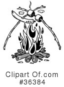 Royalty-Free (RF) Campfire Clipart Illustration #36384
