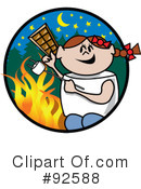 Royalty-Free (RF) Campfire Clipart Illustration #92588