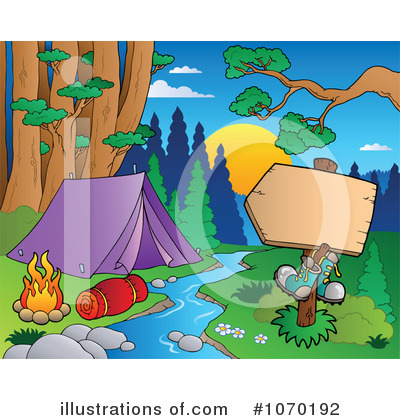 Royalty-Free (RF) Camping Clipart Illustration by visekart - Stock Sample #1070192