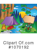Royalty-Free (RF) camping Clipart Illustration #1070192