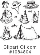 Royalty-Free (RF) Camping Clipart Illustration #1084804