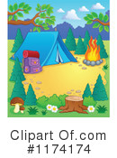 Royalty-Free (RF) camping Clipart Illustration #1174174