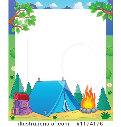 Camping Clipart #1174176 - Illustration by visekart