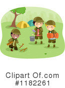 Royalty-Free (RF) camping Clipart Illustration #1182261