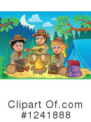 Royalty-Free (RF) Camping Clipart Illustration #1241888