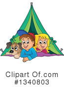 Royalty-Free (RF) Camping Clipart Illustration #1340803