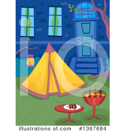 Camping Clipart #1367684 by BNP Design Studio