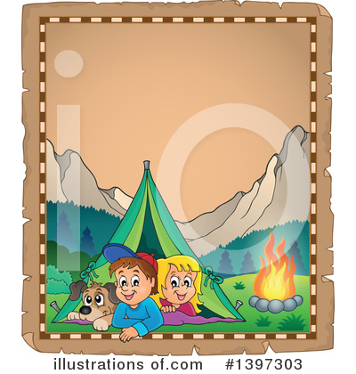 Royalty-Free (RF) Camping Clipart Illustration by visekart - Stock Sample #1397303