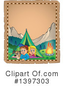 Royalty-Free (RF) Camping Clipart Illustration #1397303