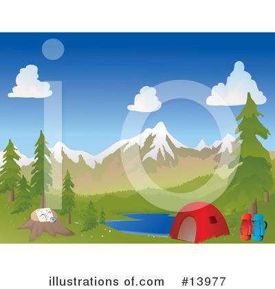 Royalty-Free (RF) Camping Clipart Illustration by Rasmussen Images - Stock Sample #13977
