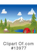 Royalty-Free (RF) camping Clipart Illustration #13977