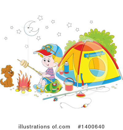 Camping Clipart #1400640 by Alex Bannykh