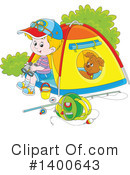 Royalty-Free (RF) Camping Clipart Illustration #1400643