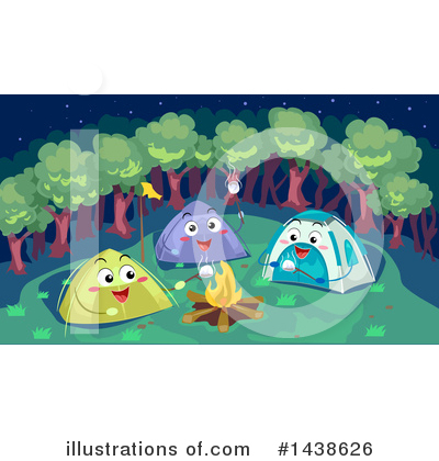 Royalty-Free (RF) Camping Clipart Illustration by BNP Design Studio - Stock Sample #1438626