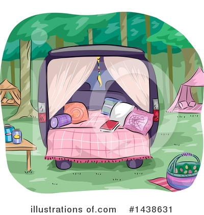 Glamping Clipart #1438631 by BNP Design Studio