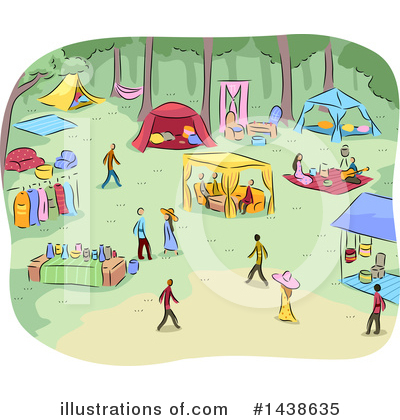Glamping Clipart #1438635 by BNP Design Studio