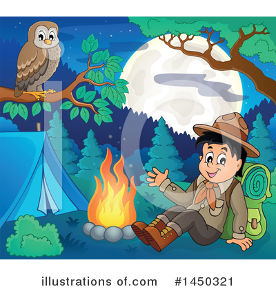 Royalty-Free (RF) Camping Clipart Illustration by visekart - Stock Sample #1450321