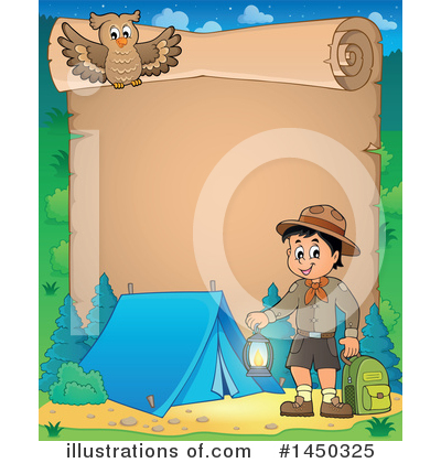 Royalty-Free (RF) Camping Clipart Illustration by visekart - Stock Sample #1450325