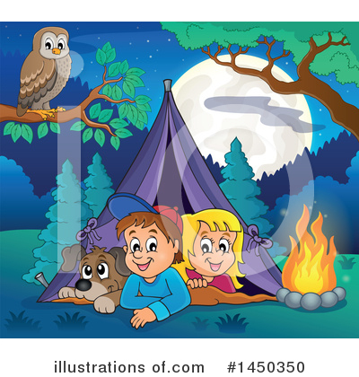 Camping Clipart #1450350 by visekart
