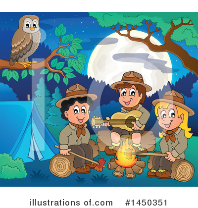 Royalty-Free (RF) Camping Clipart Illustration by visekart - Stock Sample #1450351