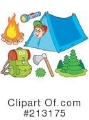 Royalty-Free (RF) camping Clipart Illustration #213175