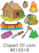 Royalty-Free (RF) Camping Clipart Illustration #213318