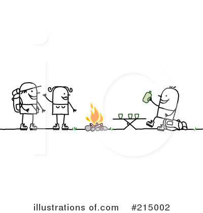 Royalty-Free (RF) Camping Clipart Illustration by NL shop - Stock Sample #215002