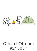 Royalty-Free (RF) Camping Clipart Illustration #215007