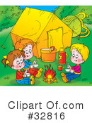 Camping Clipart #32816 by Alex Bannykh